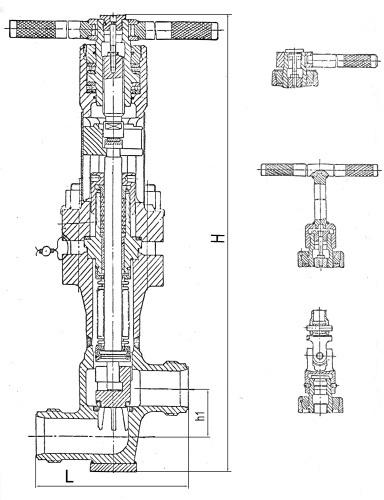 Клапан запорный сильфонный аварийный, с рукояткой