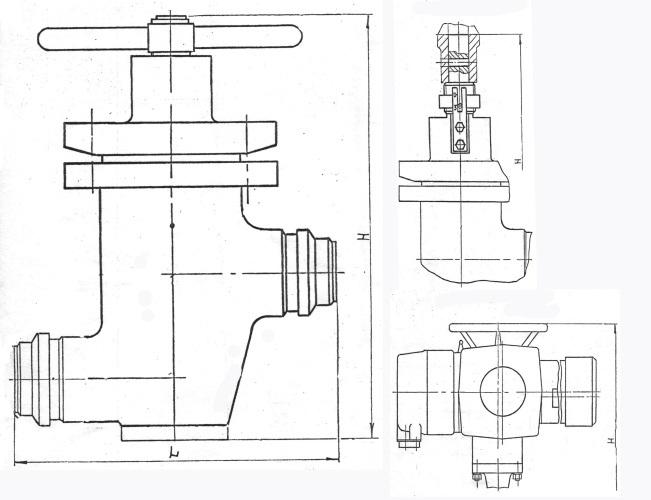 Клапан запорный сильфонный, ТУ 26-07-551-97 под электропривод