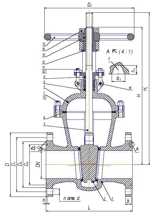30с45нж (31с45нж - аналогичные задвижки) Задвижки стальные к…