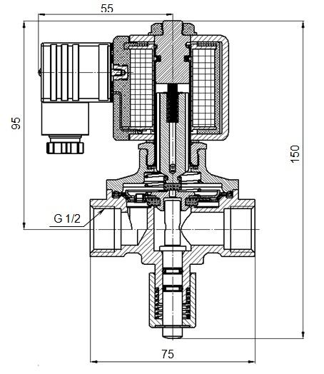 Клапан электромагнитный КЭМ-15-14
