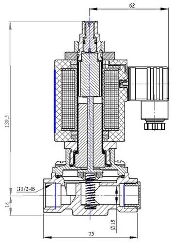 Клапан электромагнитный ВИЛН.492172.031