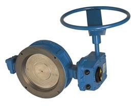 Затвор дисковый поворотный, уплотнение CS, с рукояткой