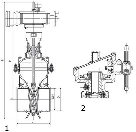 Задвижка ИА 1172-400М-11