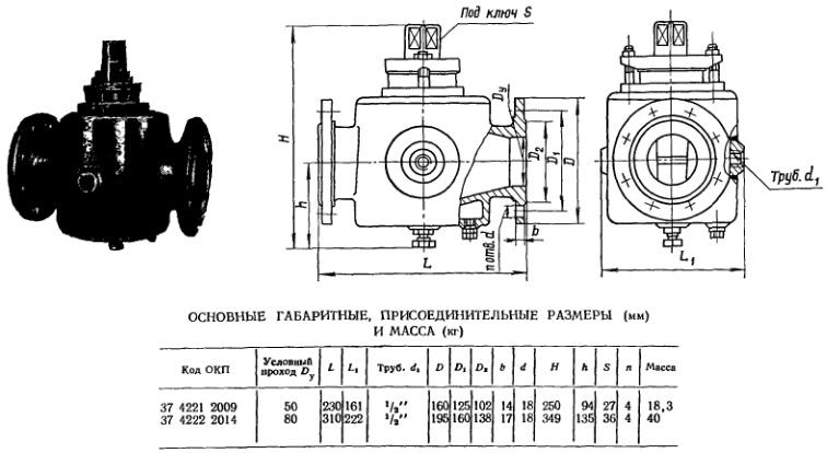 Кран пробковый проходной сальниковый с паровым обогревом