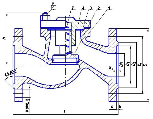 Клапан обратный КПО 40-25