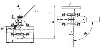 Кран трехходовой КШТ 25-32 РБУ