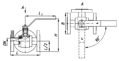 Кран трехходовой КШТ 25-125 РФХС