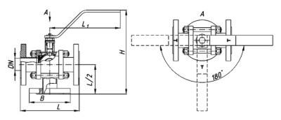 Кран трехходовой КШТ 40-150 РФУС