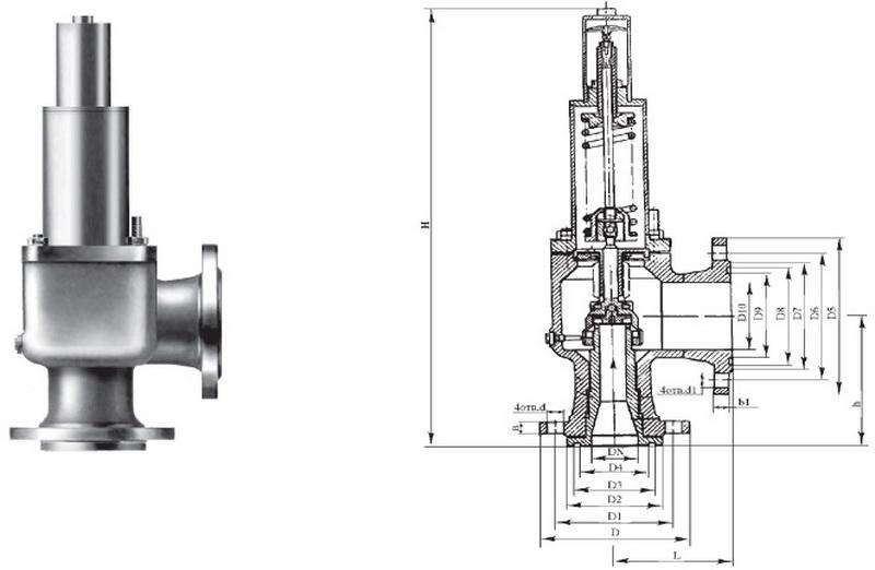 Клапан предохранительный Р53085