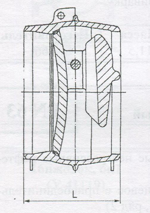 Клапан обратный поворотный, пр-ва Пенза