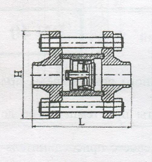 Клапан обратный 16нж84нж