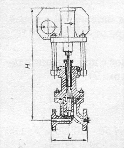 Клапан запорный сильфонный, с коническим редуктором