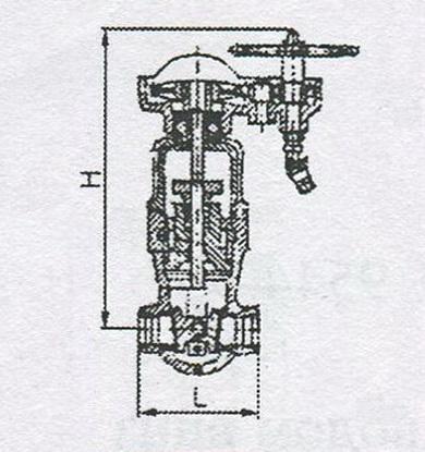 Задвижка клиновая двухдисковая сальниковая с коническим редуктором