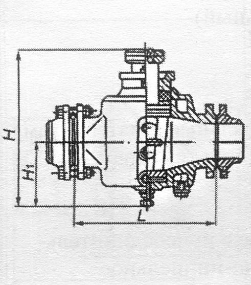 Кран трехходовой пробковый сальниковый с обогревом