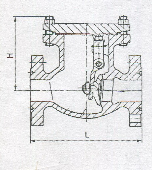 Клапан обратный поворотный по ТУ 3742-002-97965425-2007