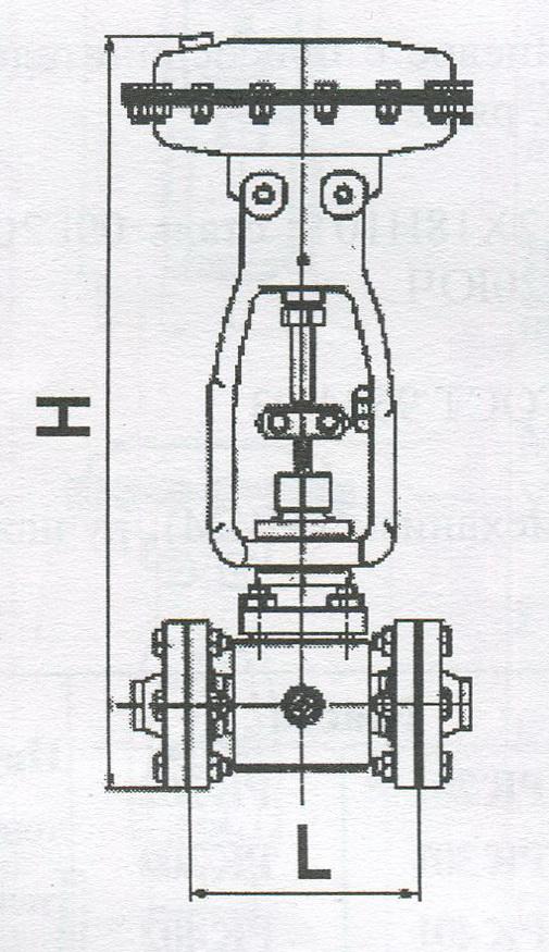 Клапан отсечной с парообогревом НО или НЗ с пневмоприводом