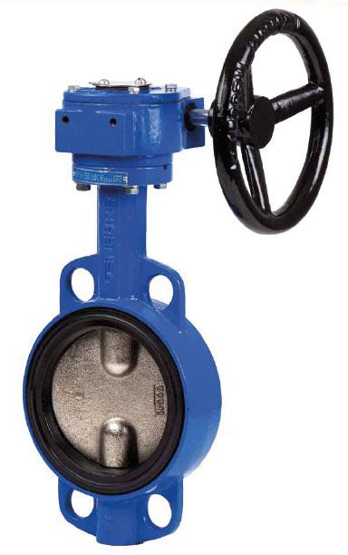 Затвор дисковый ДУ300 (DN 300) поворотный межфланцевый