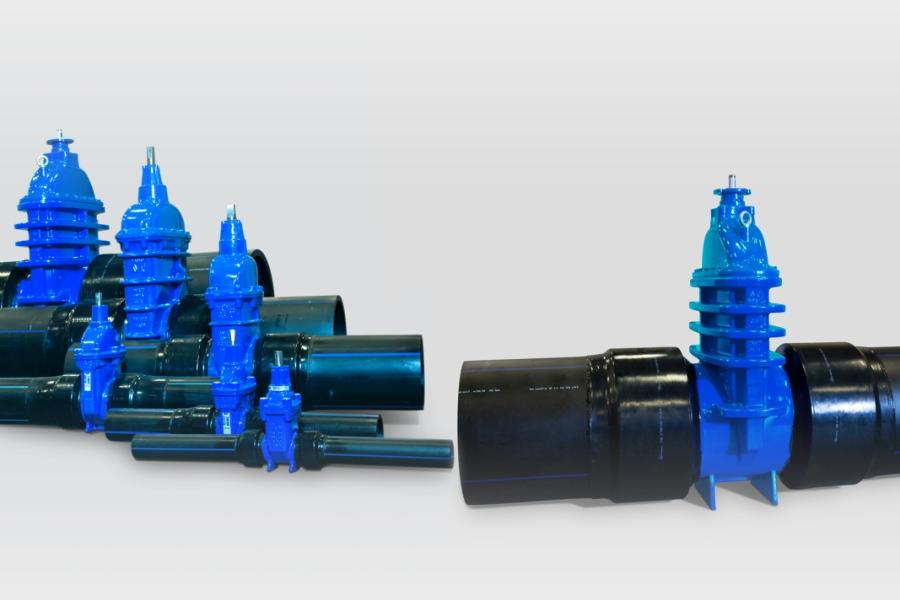 AVK обновила линейку клиновых задвижек с ПЭ патрубками новым изделиями