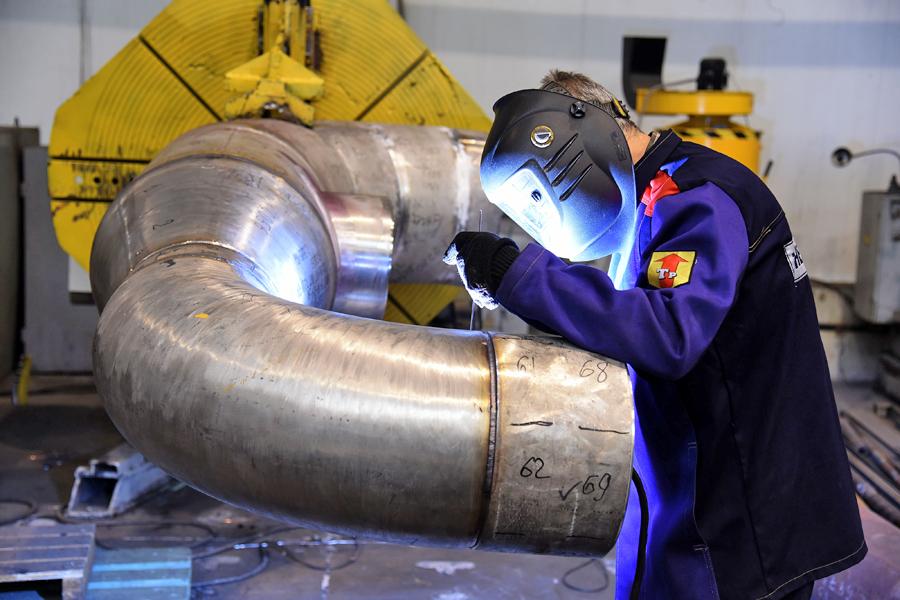 «Белэнергомаш – БЗЭМ» выполняет производство и поставку трубопроводов для атомных станций
