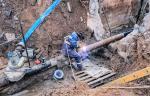 Газовики установили шаровый кран на трубопроводе высокого давления в Пскове