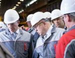 Губернатор Нижегородской области ознакомился с производством инновационной стали в Выксе (ОМК)