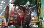 Завод «Атоммаш» выполняет сварочные работы на верхнем полукорпусе реактора Курской АЭС-2