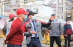 Площадку «Петрозаводскмаша» посетил глава Республики Карелия Артур Парфенчиков