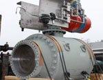 MOGAS изготовил самый большой в мире поворотный регулирующий шаровой кран