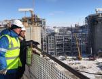 Александр Новак осмотрел основные объекты строительства завода Ямал СПГ и порта Сабетта